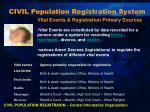 civil population registration system