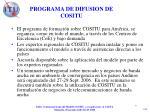 programa de difusion de cositu
