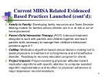 current mhsa related evidenced based practices launched cont d