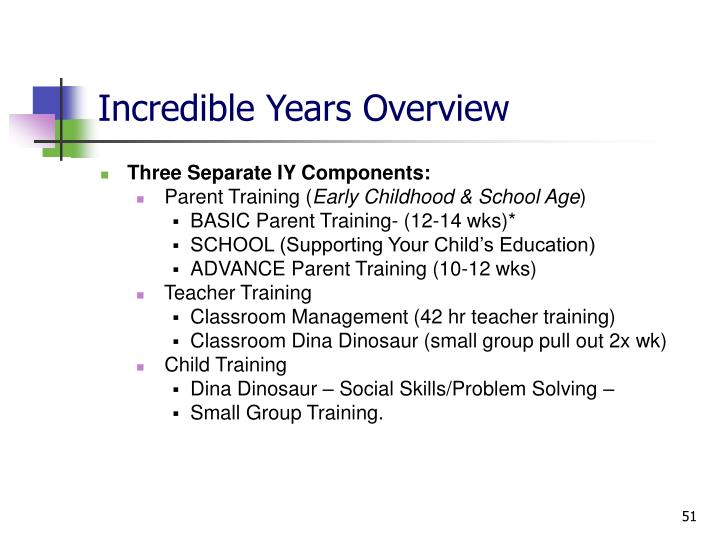 Incredible Years Overview