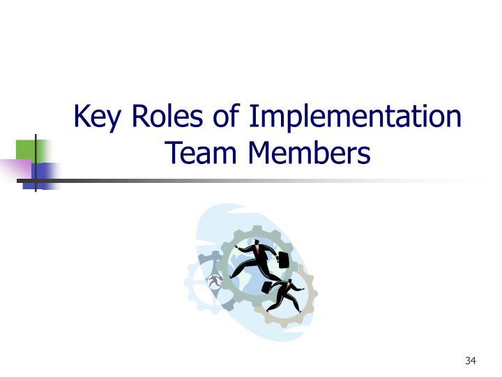 Key Roles of Implementation Team Members