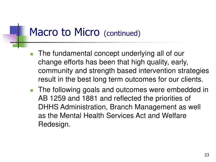 Macro to Micro