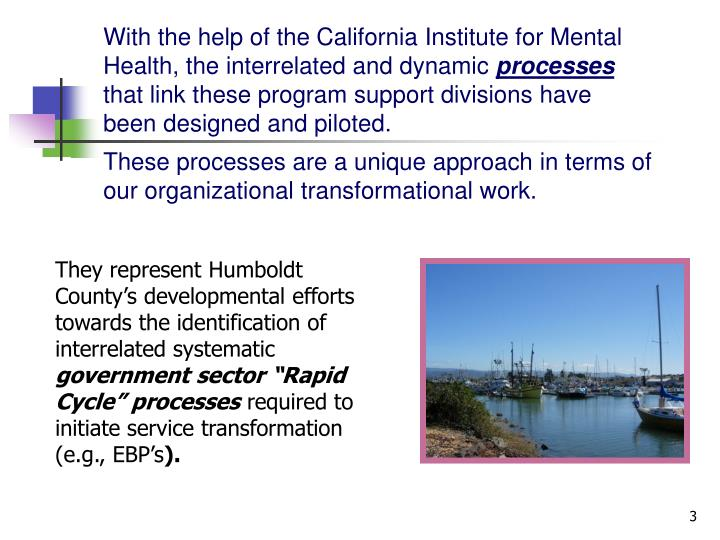 With the help of the California Institute for Mental