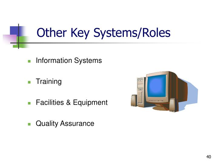 Other Key Systems/Roles