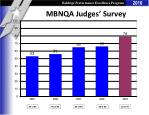 mbnqa judges survey response rates