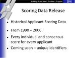 scoring data release