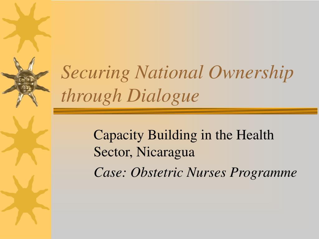 securing national ownership through dialogue l.