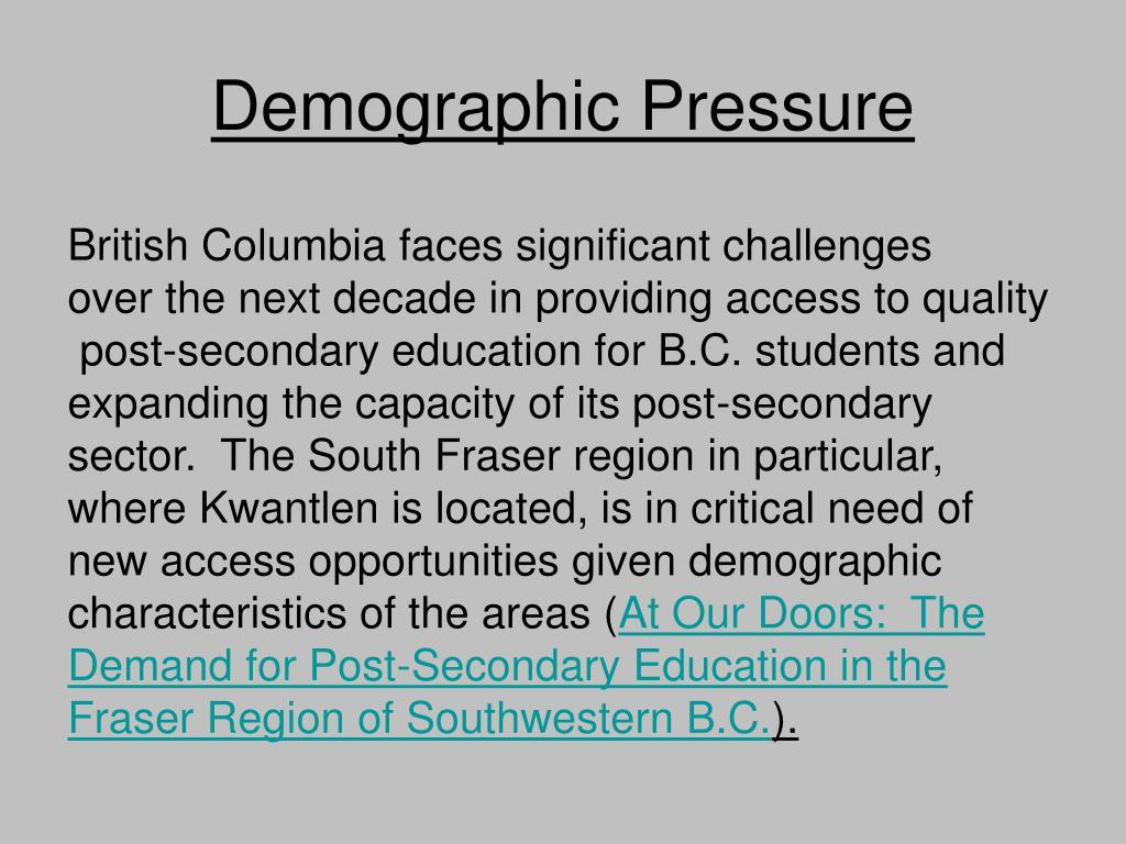 Demographic Pressure