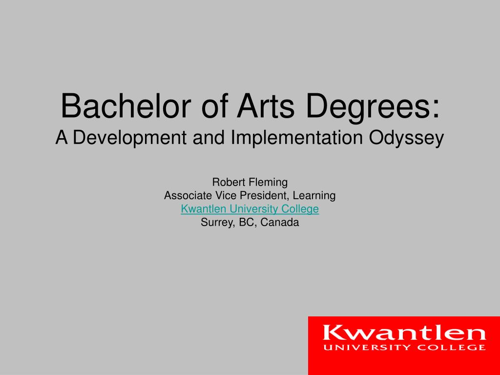 Bachelor of Arts Degrees: