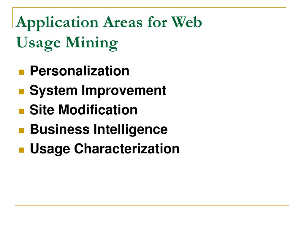 Application Areas for Web