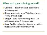 what web data is being mined