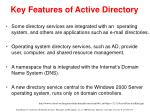 key features of active directory