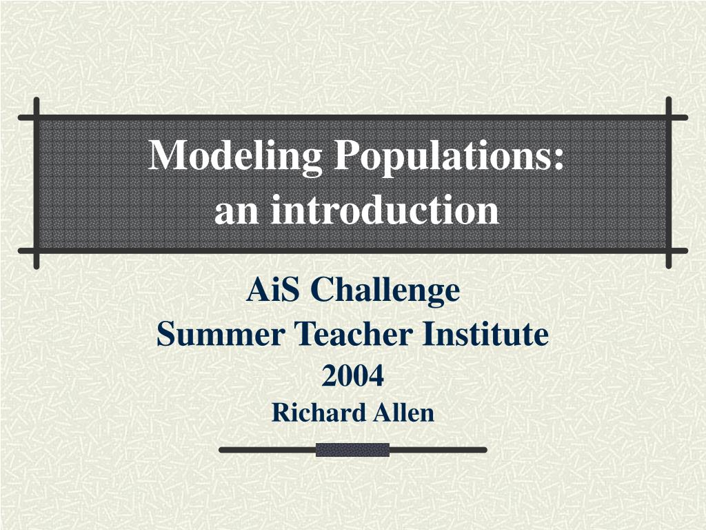 ais challenge summer teacher institute 2004 richard allen l.