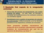 tercera parte el proceso de renegociaci n y sus etapas cont19