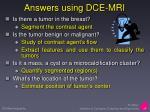 answers using dce mri