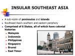 insular southeast asia