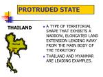protruded state