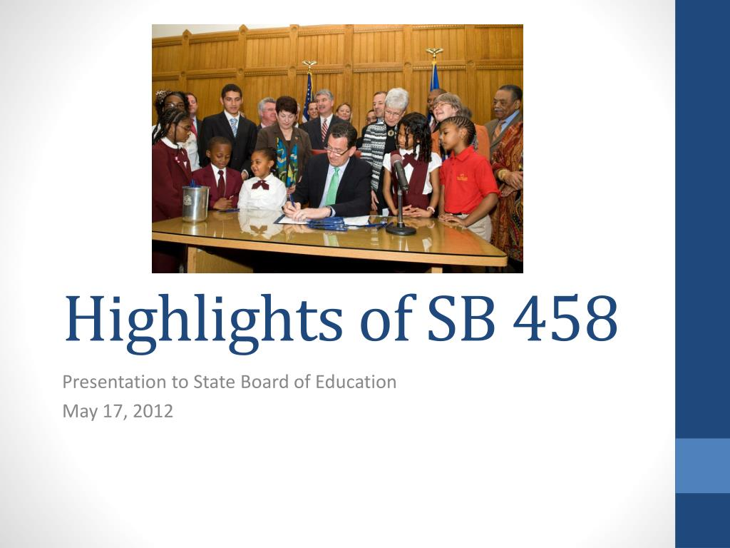 highlights of sb 458 l.