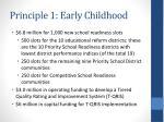 principle 1 early childhood