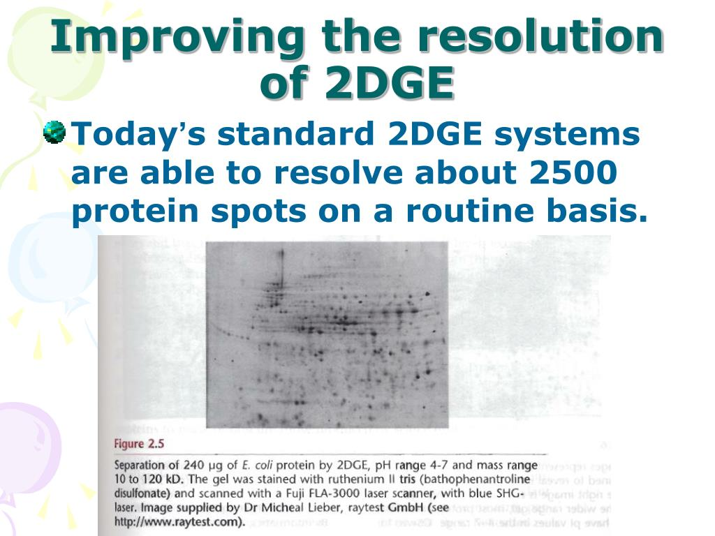 Improving the resolution of 2DGE