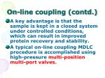 on line coupling contd