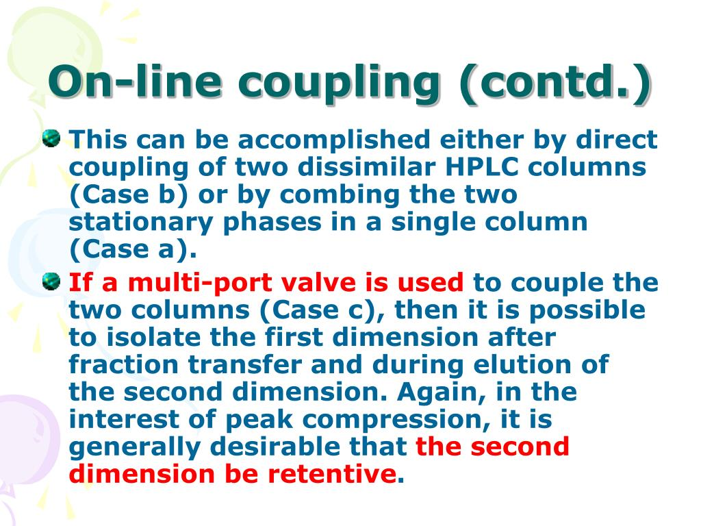 On-line coupling (contd.)