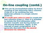 on line coupling contd51