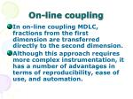 on line coupling