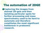 the automation of 2dge