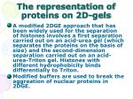 the representation of proteins on 2d gels31
