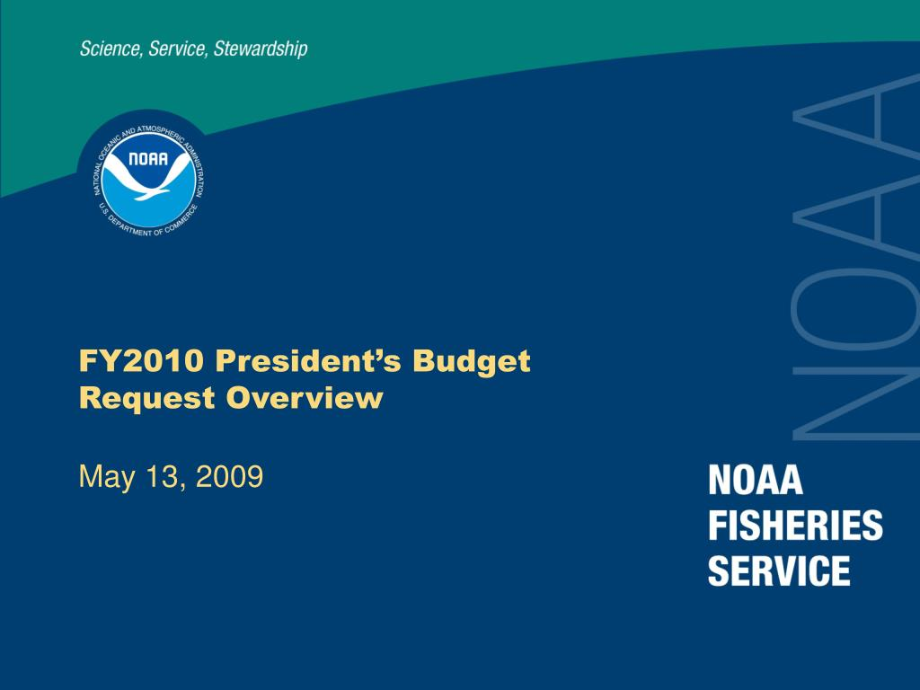 fy2010 president s budget request overview l.
