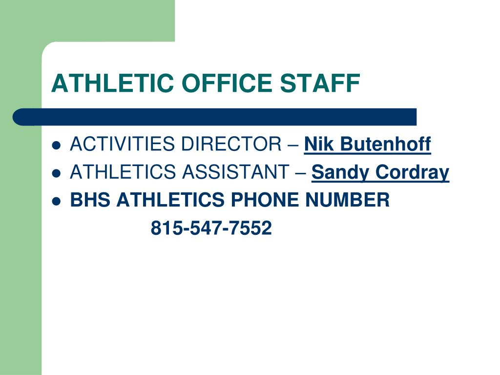 ATHLETIC OFFICE STAFF