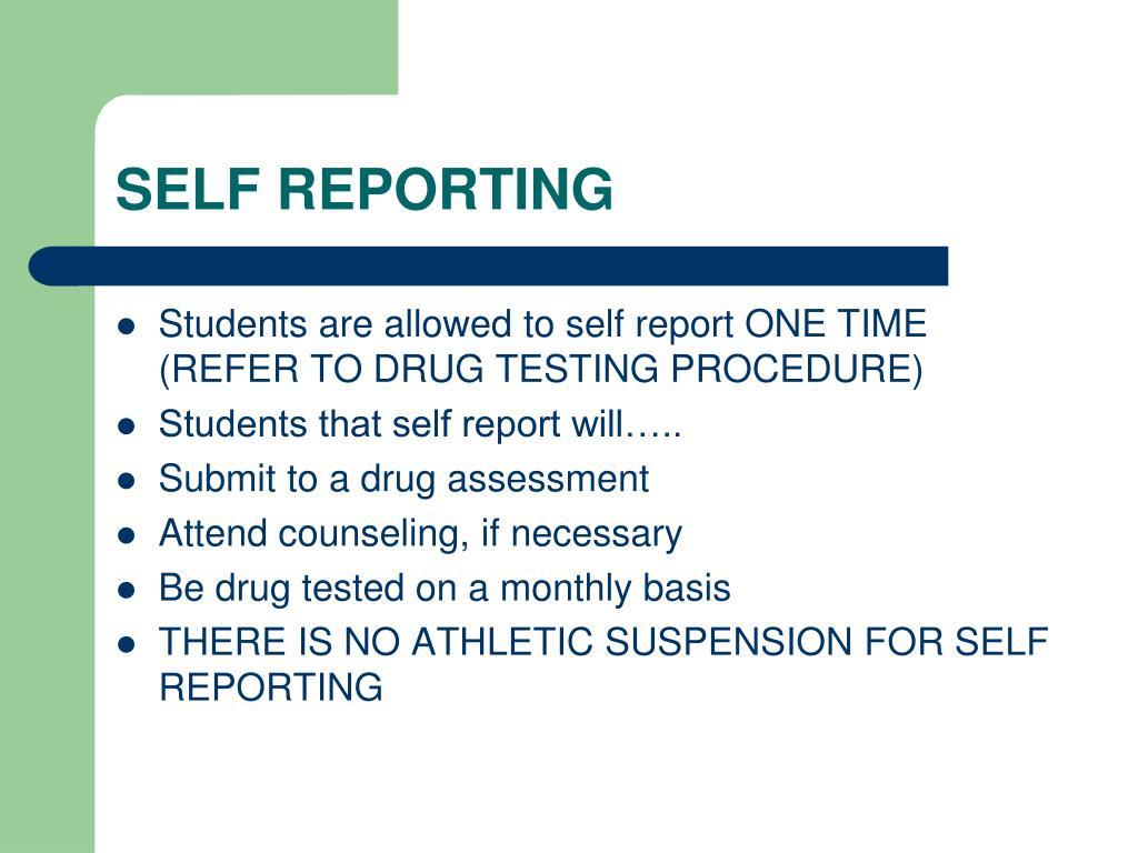SELF REPORTING