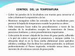 control del la temperatura