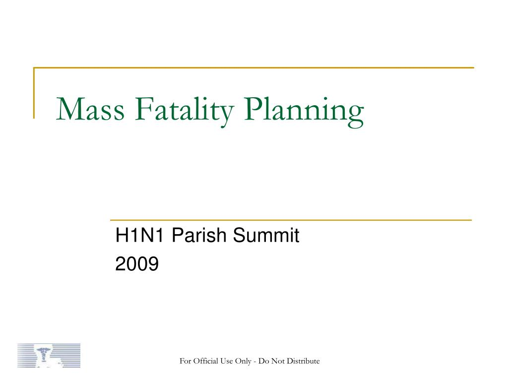 mass fatality planning l.