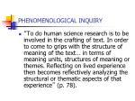 phenomenological inquiry25