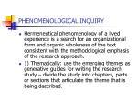 phenomenological inquiry28