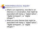 phenomenological inquiry3