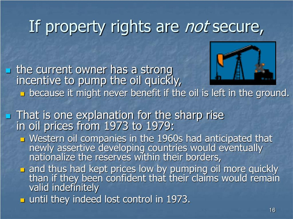 If property rights are
