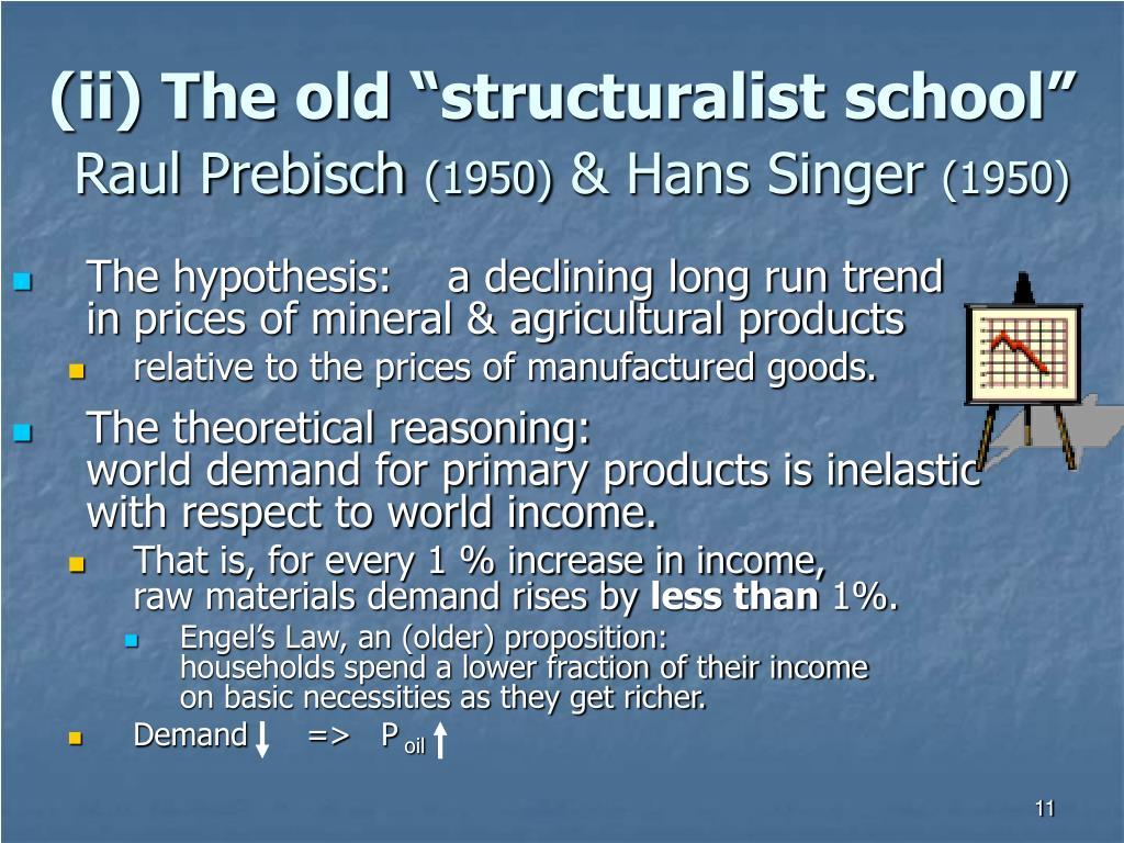 """(ii) The old """"structuralist school"""""""