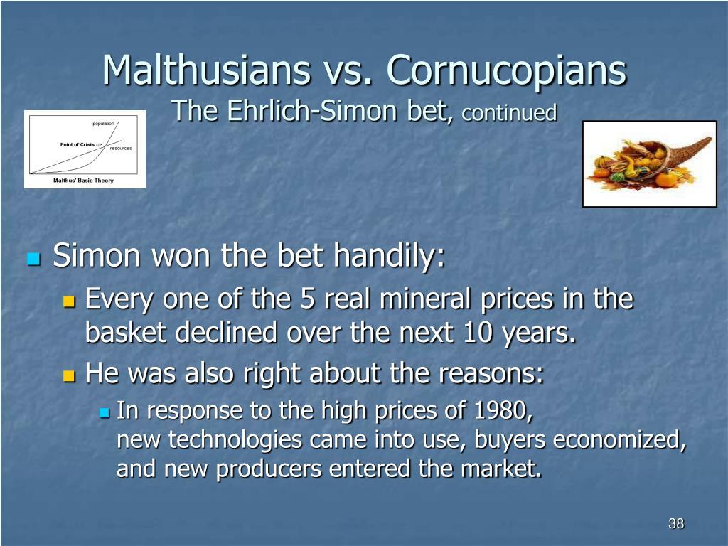 Malthusians vs. Cornucopians