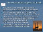the complication supply is not fixed
