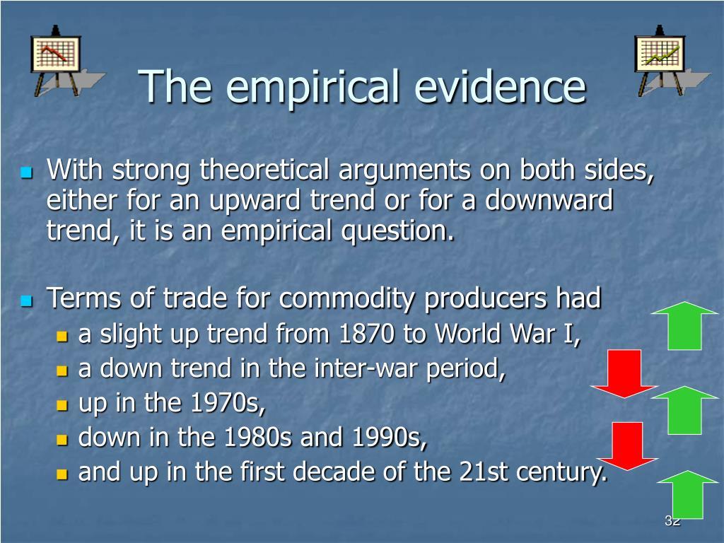 The empirical evidence