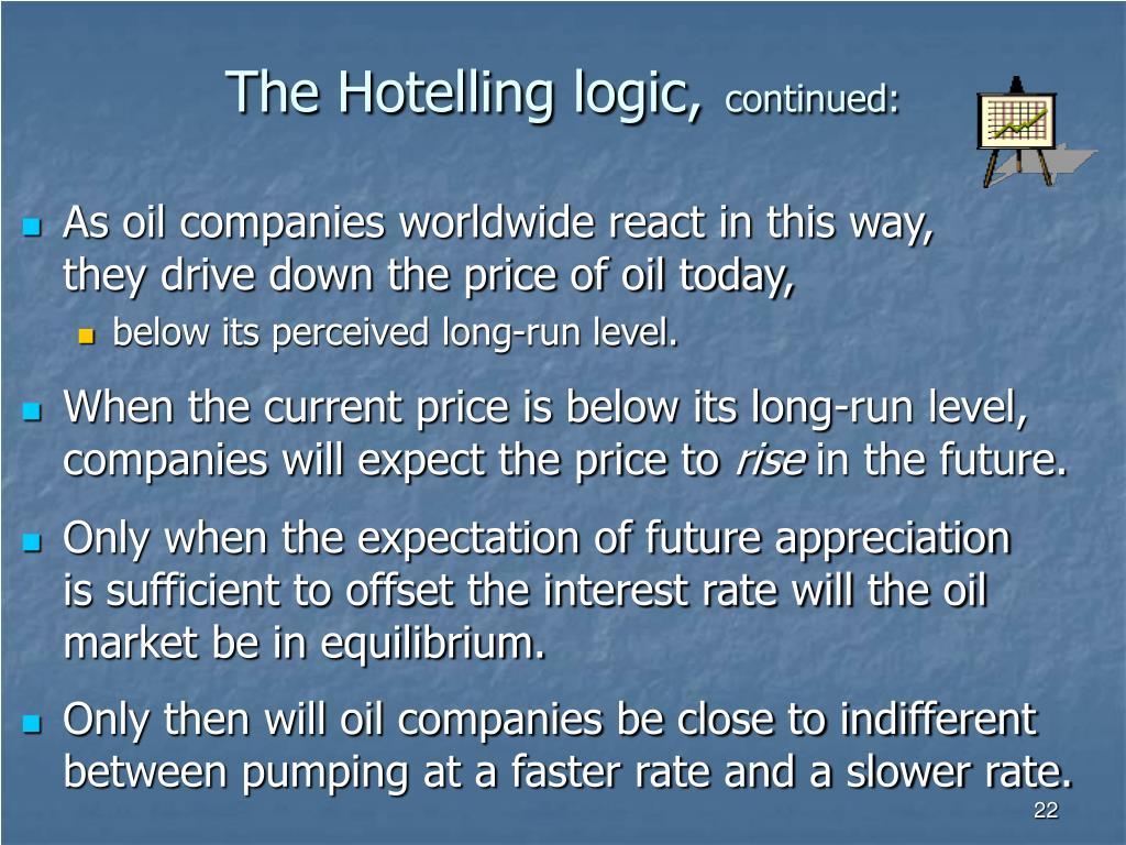 The Hotelling logic,