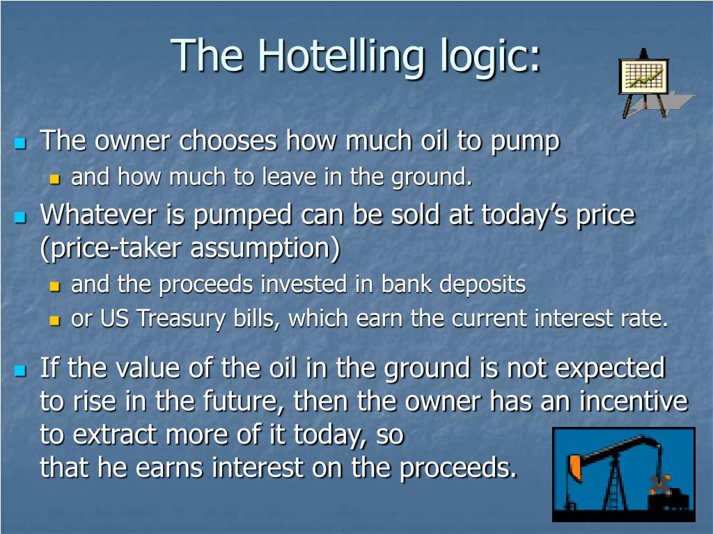 The Hotelling logic:
