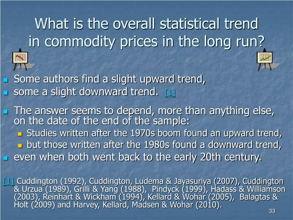 What is the overall statistical trend