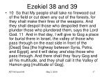 ezekiel 38 and 3917