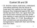 ezekiel 38 and 3922