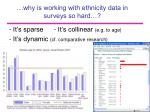 why is working with ethnicity data in surveys so hard