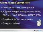 client access server role